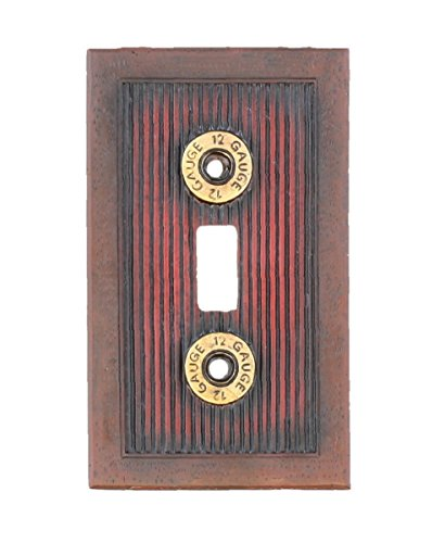 Shotgun Shot Shell Single Switch Electrical Cover Plate - 12 Guage Hunting Man Room Cabin Gun Bullet Skeet Decor