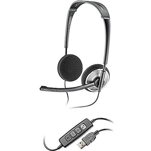 Plantronics (81962-21) Folding Usb Headset With Noise-Cancelling Microphone And Digital Signal Processing