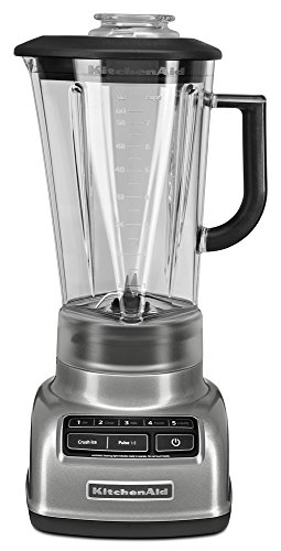 KitchenAid KSB1575CU 5-Speed Diamond Blender with 60-Ounce BPA-Free Pitcher - Contour Silver (Kitchenaid Vortex compare prices)