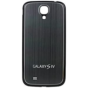 xubix Galaxy S4 Akkudeckel brushed Metall Look Samsung i9500 / i9505 Black Edition / Grau