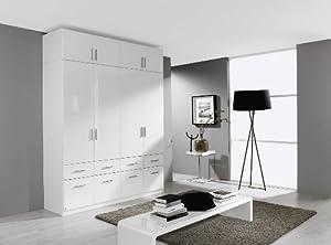 rauch kleiderschrank celle 4trg hochglanz wei mit aufsatz b h t. Black Bedroom Furniture Sets. Home Design Ideas