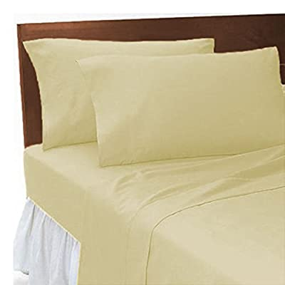 "2ft 6"", Small Single Bed, Bunk Bed Fitted Sheet, Cream by Maria Luxury Bedding & Linen"