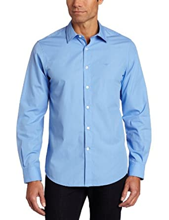 dockers men 39 s french placket long sleeve stain defender