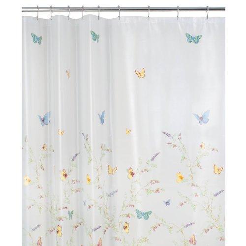 Maytex Garden Flight PEVA Shower Curtain(Butterfly), Multi (Butterfly Shower Curtains compare prices)