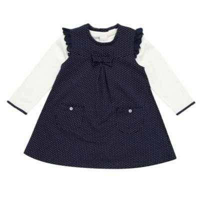 J by Jasper Conran-Baby's navy soft pinafore set-3-6 months