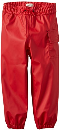 Hatley Little Boys' Children'S Splash Pants Red, Red, 4 front-1026040