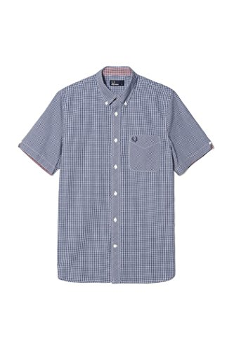 Camicia M6378 Classic GinGham Fred Perry F61 126 Medieval Blue, 7 XXL MainApps