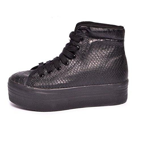 "JEFFREY CAMPBELL HOMG Sneaker ""Pitonato"" Nero (37)"