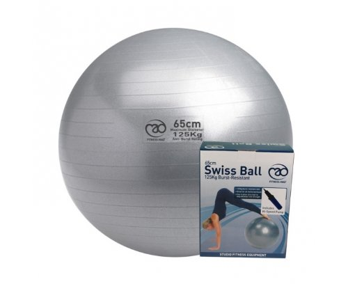 PILATES-MAD 125KG Anti Burst Swiss Ball and Pump
