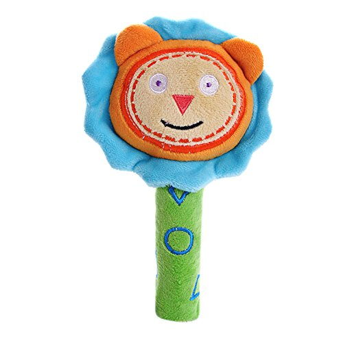 SHILOH Rattle Plush Toy Lovely Kid Children Infant Doll Cognize Crinkle Gift Animal 8in*4.8in (Lion)