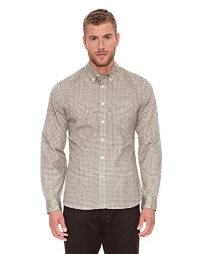 Dockers Camicia Uomo Printed [Marrone]