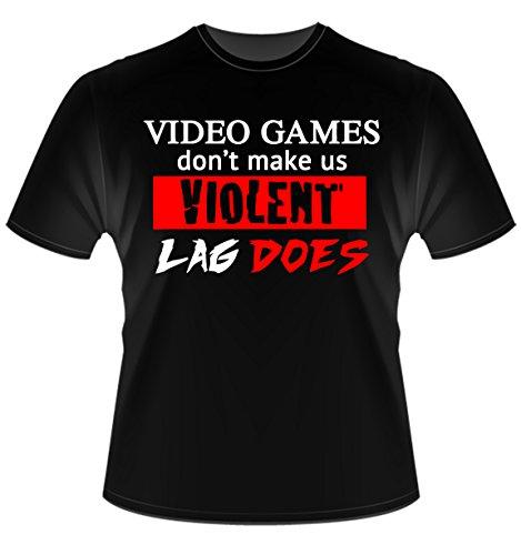 Videogame Instabuy - Lag makes me Violent T Shirt - Maglia Uomo Taglia L