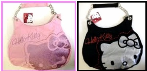 Hello-Kitty-glitter-tote-bag-Black-or-Pink