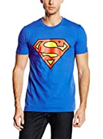 DC Comics Camiseta Manga Corta Superman Logo (Azul Royal)