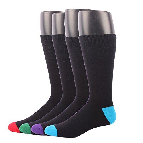 RioRiva Calcetines cortos para hombre vestir/casual o trabajar 100% algodón en caja (Hombre EU 41-48/US 7-13, BSK05-4 pares)
