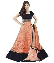 Dharmnandan Tex Women Salwar Suit Dress Material (DT002_Orange)