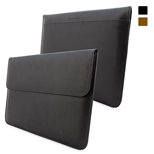 Cheap Snugg™ MacBook 12 Inch Case - Leather Sleeve with Lifetime Guarantee (Black) for Apple MacBo...