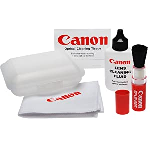 Canon Optical Digital Camera and Lens Cleaning Kit (Brush, Microfiber Cloth, Fluid and Tissue) for EOS