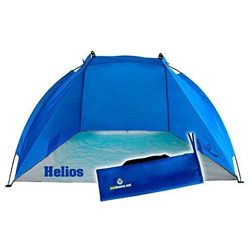 Outdoorer tenda da spiaggia Helios, blu, anti-UV 60, estremamente leggera, confezione compatta