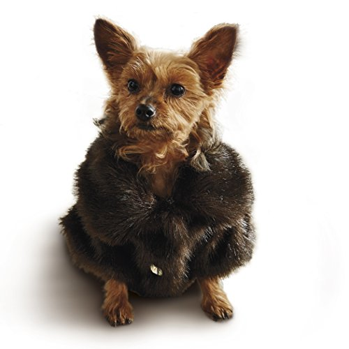 Frontgate Faux Fur Pet Jacket, Channeled Mink, Large