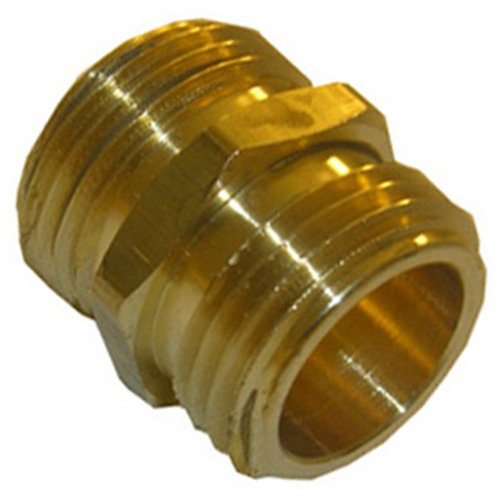 LASCO 15-1703 3/4-Inch Male Garden Hose Thread by 3/4-Inch Male Garden Hose Thread Brass Adapter (Male Male Hose Connector compare prices)