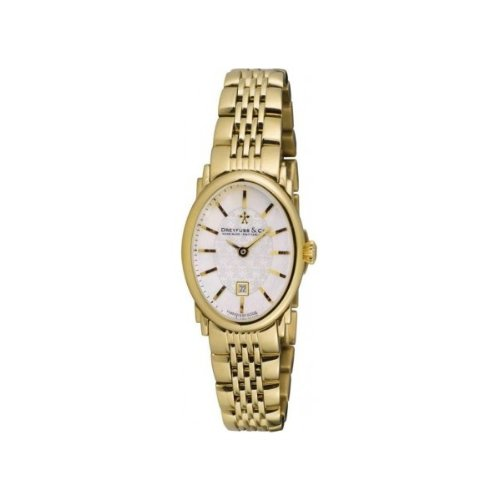 Dreyfuss & Co. DLB00046-02 Gold Plated Stainless Steel Case Gold Plated Stainless Steel Sapphire Crystal Women's Watch