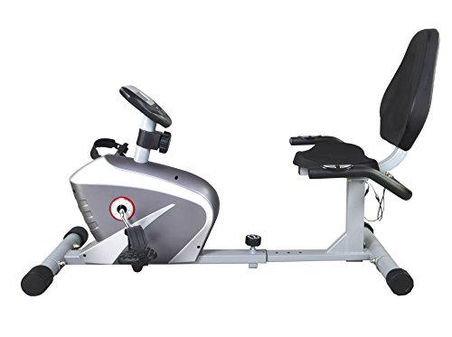 New Silver Foldable Excercise Bike Cardio Cycling Workout Home Gym Magnetic Recumbent Bike L40