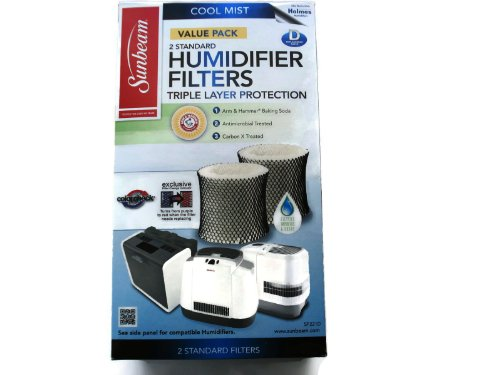 Sunbeam Cool Mist Humidifier Filter Type D (SF221)(Value Pack-2 Filters In Box) - 1