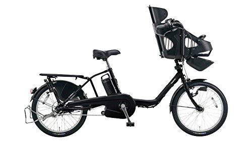 Panasonic(パナソニック) 2016年モデル ギュット・ミニ・EX カラー:ピュアマットブラック 20インチ BE-ELME03-B 子供乗せ付き電動アシスト自転車 専用充電器付