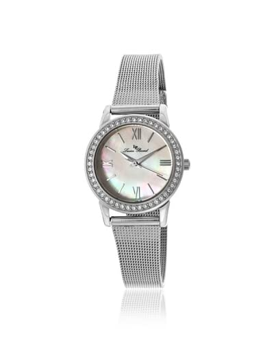 Lucien Piccard Women's LP-12006-22MOP Veleta Mother of Pearl & Swarovski Crystal Mesh Watch As You See