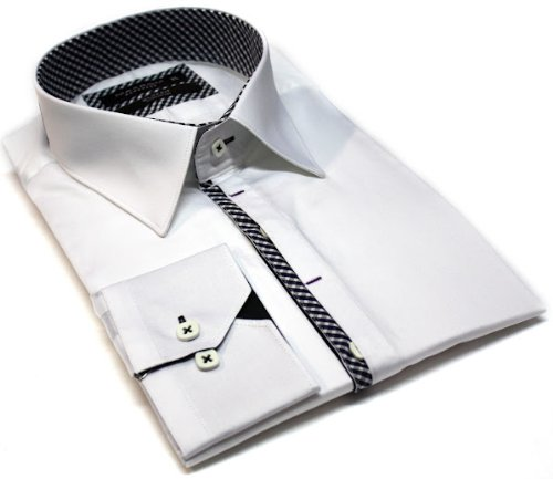 Italian Design Men's Formal Casual Shirts White Colour