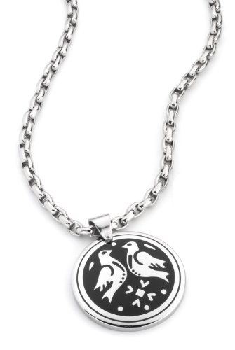 DOOSTI Talisman Pendant with Stainless Steel Necklet, ø 3,5cm