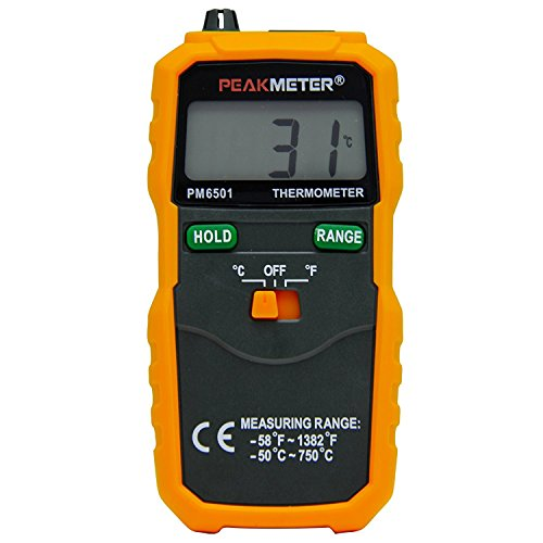 PEAKMETER PM6501 LCD Digital Instant-Read Thermometer Temperature Meter with Type K Thermocouple Sensor Probe (Digital Thermometer K Type compare prices)