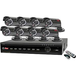 Q-See QT426-811-5 16 Channel H.264 Security DVR with 8 Indoor/Outdoor Cameras and Internet Monitoring
