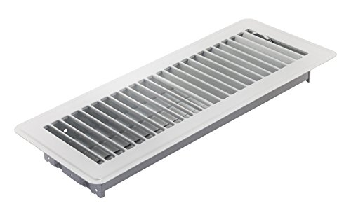 Accord ABFRWH412 Floor Register with Louvered Design, 4-Inch x 12-Inch(Duct Opening Measurements), White (Angled Floor Vents compare prices)