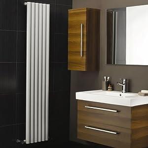 Hudson Reed Heizkörper  Savy  1600 mm x 354 mm  1680 Watt  Vertikale Design Heizung mit Oberfläche in Weiß   Kundenbewertung und weitere Informationen