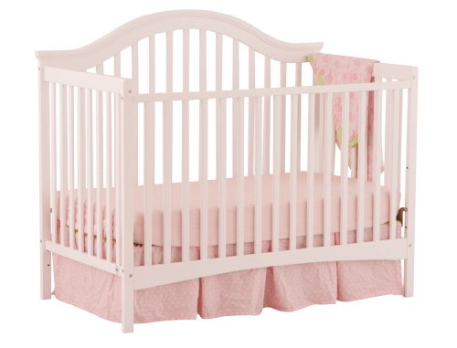Stork Craft Ravena Fixed Side Convertible Crib, White