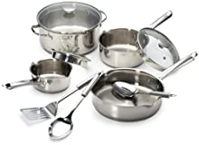 Wearever Cook Strain Stainless Steel 10-Piece Cookware Set