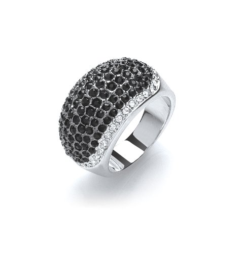 Buckley Pave Crystal/Jet Edge Ring
