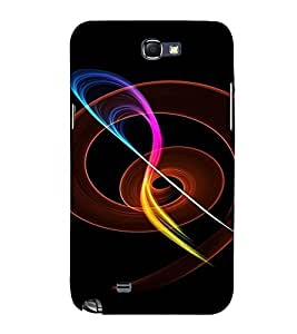 PrintVisa Colorful Fire Design 3D Hard Polycarbonate Designer Back Case Cover for Samsung Galaxy Note 2