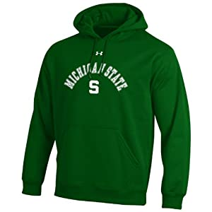 NCAA Michigan State Spartans Mens Performance Fleece Hood by Under Armour
