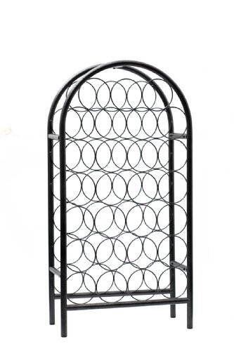 Old Dutch 27-Bottle Pewter Classic Arch Wine Rack, 17 By 8 By 33-3/4-Inch front-603549
