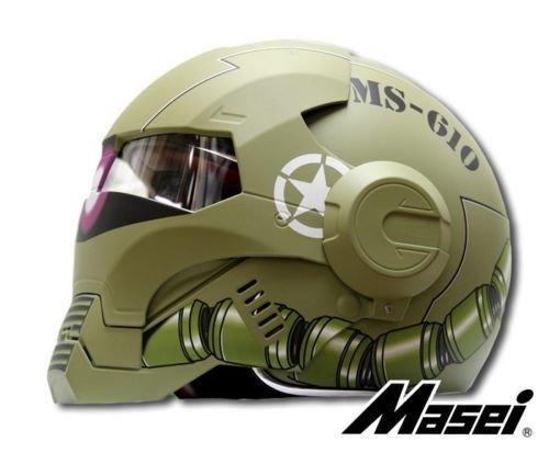 Masei フルフェイスへルメット ロボヘル610Z グリーン HELMET L MA-610Z-GR-L