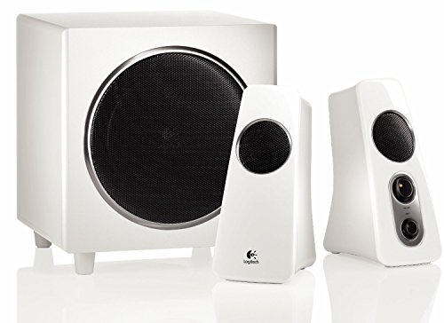 LOGITECH DESIGN AKTIVBOXEN 2.1 Lautsprechersystem Lautsprecher System Box Boxen Aktiv Subwoofer weiß 40 Watt Pc Computer Notebok Laptop mac iMac Macbook Netbook