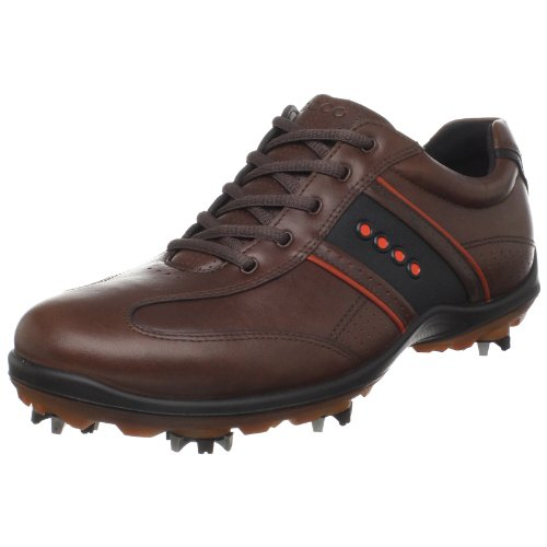 ECCO Men's Casual Cool II Hydromax Golf Shoe,Bison/Fire/Black/Black,45