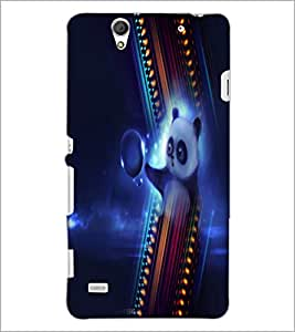PrintDhaba Panda D-4994 Back Case Cover for SONY XPERIA C4 (Multi-Coloured)