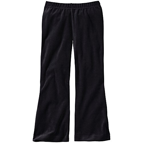 Hanna Andersson Big Girl Bootcut Velour Pants, Size 150 (12), Black front-822846