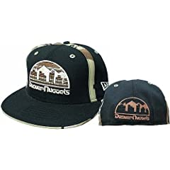 Denver Nuggets Fitted Hardwood Classics Camo Hat Size 7 by New Era