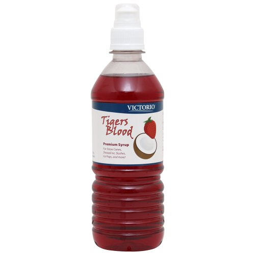VICTORIO 16-Ounce Shaved Ice/Snow Cone Syrup, Tiger's Blood