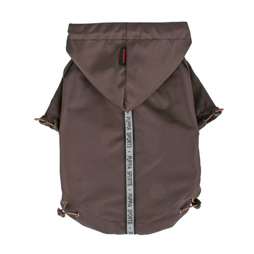 Puppia Authentic Base Jumper Raincoat, Small, Brown